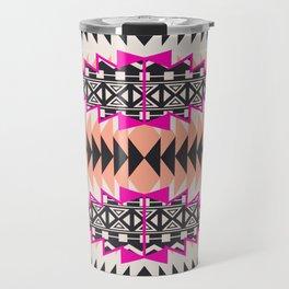 Tribal Beat Geo Magenta Travel Mug