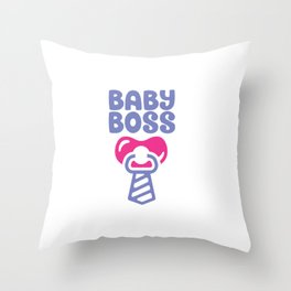 Baby Boss shirt Throw Pillow