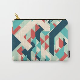 Abstract geometric background. Modern overlapping small triangles. Carry-All Pouch