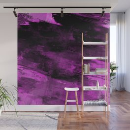 Purple Haze - Abstract, purple and black painting Wall Mural
