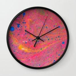 Marbling 3, Tie Dye Effect Abstract Pattern Wall Clock