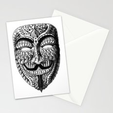 Ornate Anonymous Mask Stationery Cards