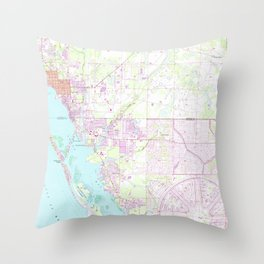 Vintage Map of Englewood & Grove City FL (1956) Throw Pillow