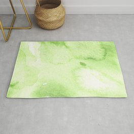 Watercolor abstraction, green background, handmade. Rug