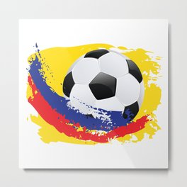 Football Ball and red, blue and yellow Strokes Metal Print