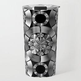 Shiny metallic damask Travel Mug