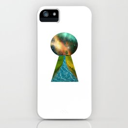 Another World Through a Keyhole iPhone Case