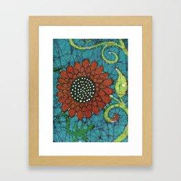 Kate's Flower Batik Framed Art Print