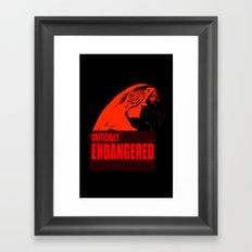 Critically Endangered Blue-throated Macaw Framed Art Print
