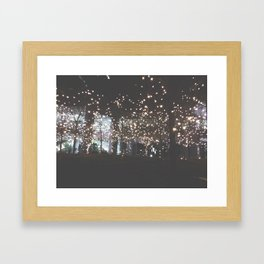 Night Lights-Stars in the Trees Framed Art Print