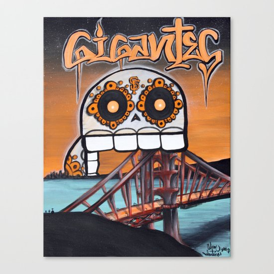 SF Gigantes by Adam Valentino  Canvas Print