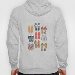 Hard choice // shoes on white background Hoody