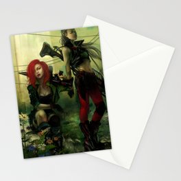 Hot pepper - Sci-fi soldier girls with weapons Stationery Cards