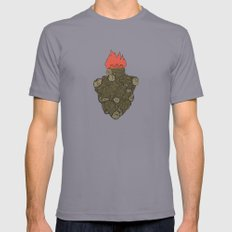 Endure Burning - Viktor Frankl Quote - wood heart Mens Fitted Tee Slate MEDIUM