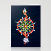 chakra Stationery Cards featuring Muladhara Chakra by DiskoGalerie