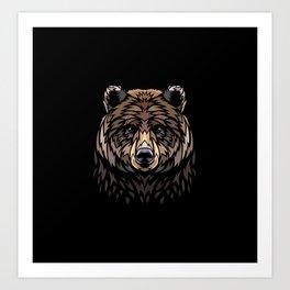 Tribal Frontal bear Art Print
