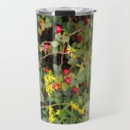 Flower and Berries Travel Mug