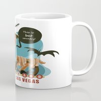 fear and loathing Mugs featuring Fear and Loathing in Las Vegas by Danilo Fiocco