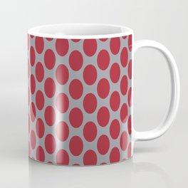 Red Oval Shape Pattern on Gray Background Coffee Mug