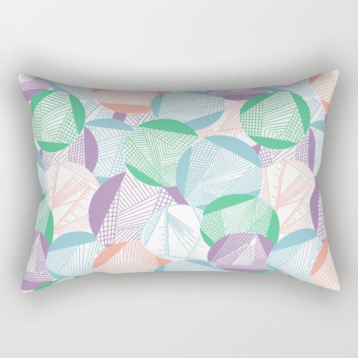 Tangent (Emerald) Rectangular Pillow