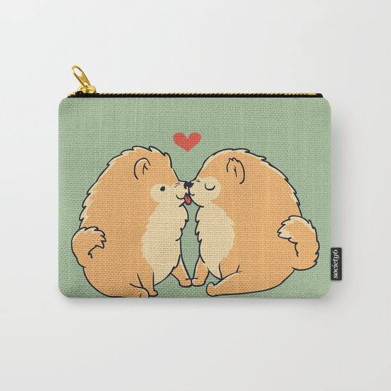 Pomeranian Kisses Carry-All Pouch