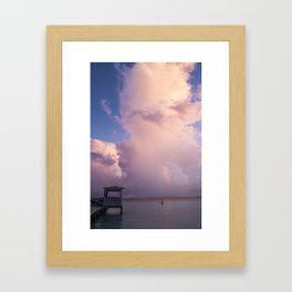Beautiful clouds. Isla Mujeres. Mexico Framed Art Print