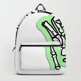 Peace Sign Bone Hand Backpack