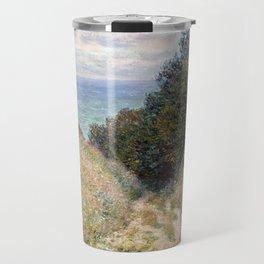 Road at La Cavée, Pourville by Claude Monet 1882 Travel Mug