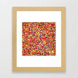 Sugar Candy Rainbow Balls Framed Art Print