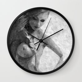 Perfection in black and white Wall Clock