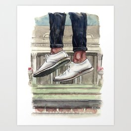 Luxury Sneaker Jumping, Noah Waxman Shoes Art Print