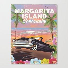 Margarita Island Venezuela travel poster Canvas Print