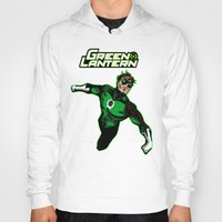 green lantern Hoodies featuring Green Lantern by Metalot