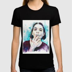 25th frame of my mind (Brian Molko) Womens Fitted Tee Black SMALL