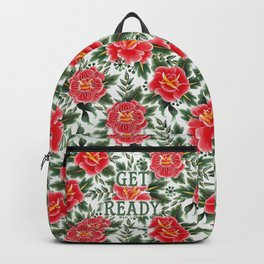 Get Ready - Vintage Floral Tattoo Collection Backpack