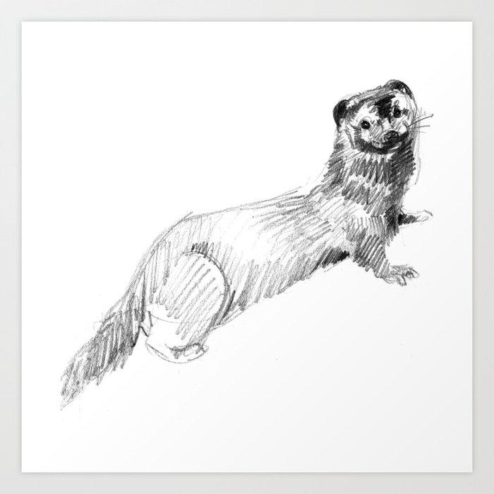 Totem: American Mink Art Print
