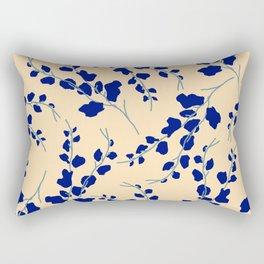 Blue Buds Rectangular Pillow