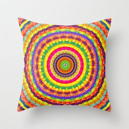 Batik Bullseye Throw Pillow