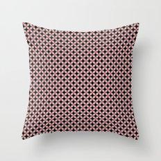 Pink Black Star Pattern Throw Pillow