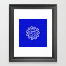 Mesmerized in Blue Framed Art Print