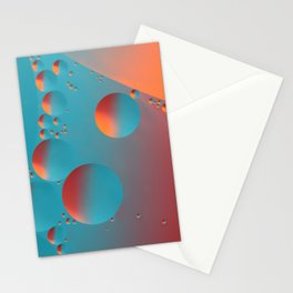 Bubble Abstract Macro Stationery Cards