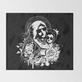 Holy punk family Throw Blanket