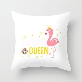 Womens Funny Caffeine Queen product I Magical Coffee Flamingo Throw Pillow