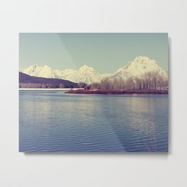 Grand Tetons on the Lake Metal Print
