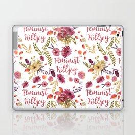 'Feminist Killjoy' cute floral print Laptop & iPad Skin