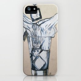 Ice cube's in a glass of water iPhone Case