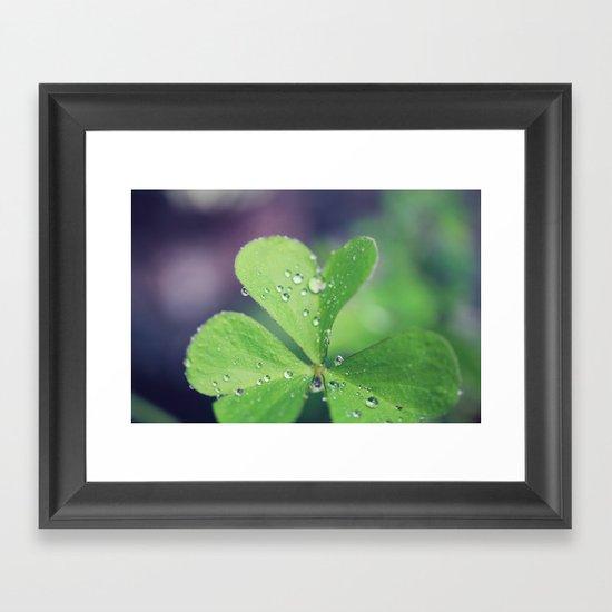 Leaves of Love Framed Art Print