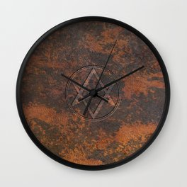 Men of Letters Leather Wall Clock