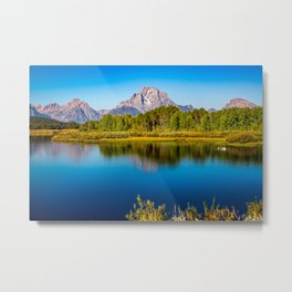 Oxbow Bend - Mt Moran in the Grand Tetons Metal Print