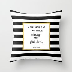 Coco Gold Classy & Fabulous Gold Print Throw Pillow